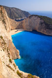 Steep cliffs of Navagio Stock Photography