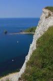 Steep cliffs near lulworth, dorset Stock Photo