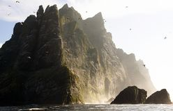 St Kilda archipelago, Outer Hebrides, Scotland. Steep cliffs on the remote island of Hirta St Kilda. The Saint Kilda archipelago contains the largest colony of royalty free stock photography
