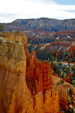 Steep cliffs in Wintertime Bryce Canyon Royalty Free Stock Photography