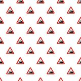 Steep climb pattern seamless. In flat style for any design Stock Images