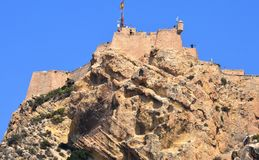 The steep climb to Santa Barbara Castle Royalty Free Stock Image