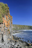 The steep coast of the northern island Royalty Free Stock Photos