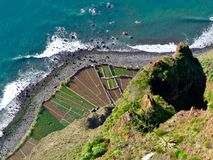 Steep coast view from above Stock Photography
