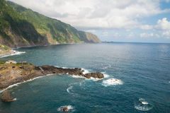 Steep coastline on Madeira Stock Image