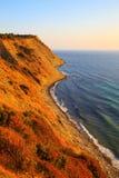 Steep coastline at sunrise, Emine, Bulgaria Royalty Free Stock Image