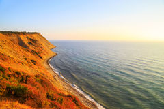 Steep coastline at sunrise, Emine, Bulgaria Royalty Free Stock Photos