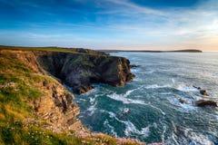 Steep Cornish Cliffs Royalty Free Stock Photos