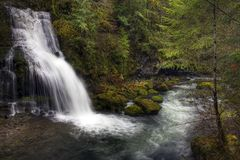 Steep Creek Falls Royalty Free Stock Images