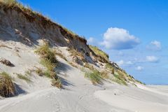 Steep, eroded dune Royalty Free Stock Images