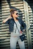 Steep girl Stock Image