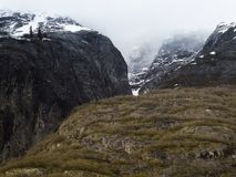 Steep Glacially Polished Cliffs at Tracy Arm Fjord, Southeast Al Royalty Free Stock Image
