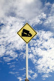 Steep grade hill traffic sign, with clipping path. Steep grade hill traffic sign, with clipping path Stock Photo