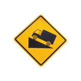 Steep Grade Hill Traffic Sign On White Background Royalty Free Stock Photography