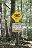 Steep grade sign for cyclists Stock Images