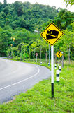 Steep grade warning sign Stock Images