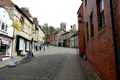 Steep Hill, Lincoln. Royalty Free Stock Photography