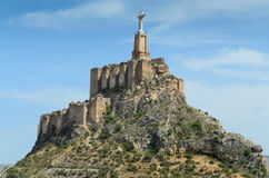 Steep hill of Monteagudo with Islamic castle Royalty Free Stock Photography