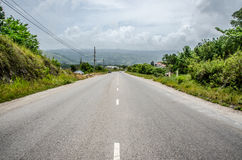 Steep hill road Royalty Free Stock Images