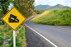 Steep hill sign Stock Images