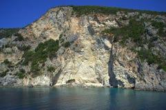 Steep island slopes Stock Images