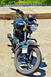 Steep motorcycle. Steep black motorcycle in Egypt Royalty Free Stock Photography