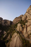 Steep mountain Huangshan royalty free stock photo