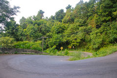 Steep mountain road in the jungle on Ko Chang Royalty Free Stock Image