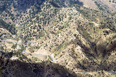 Steep mountain road on La Gomera Stock Photography