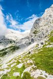 Steep mountain slope with a trail Stock Photography