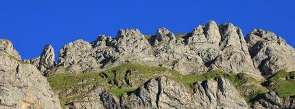 Steep mountains of the Alpstein Range Royalty Free Stock Photography