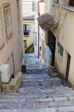 Steep narrow street of the Sicilian town Stock Photography