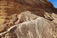Steep path to the Masada fortress Royalty Free Stock Photos