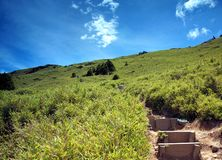 Steep Path to the Top of a Mountain Royalty Free Stock Photo