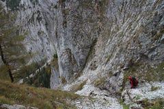 Steep pathway on Bärenlochsteig in Raxalpe Royalty Free Stock Photo