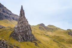 Steep pointed rock on the island Skye Stock Photo