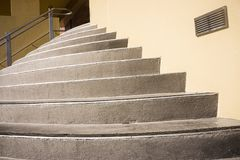 Modern semicircular stairs Royalty Free Stock Photos