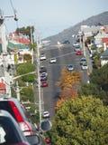 Steep road in Hobart, Tasmania Royalty Free Stock Photo