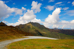 Steep road in Tirol mountains, Royalty Free Stock Photos