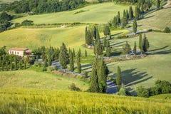 Steep road in Tuscany Stock Photos
