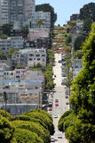 Steep Roads in San Francisco Stock Photos
