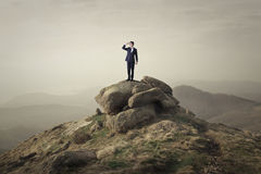 On a steep rock Royalty Free Stock Images