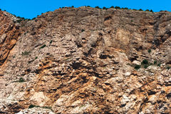 The steep rock in the Crimea Stock Photos
