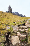 Steep rock on the island Skye Stock Photography