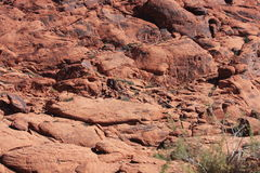 Steep rock at Red Rock Canyon in Las Vegas Stock Image