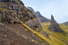 Steep rocks on the island Skye Royalty Free Stock Photos