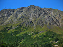 Steep Rugged Mountain on the Kenai Peninsula Stock Photo