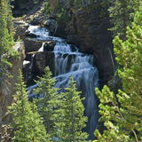 Steep, rugged waterfall Stock Images