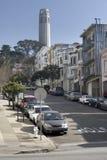 Steep San Francisco street Royalty Free Stock Photos