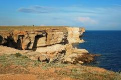 Steep sea coast Royalty Free Stock Photos